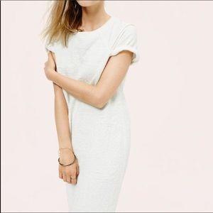Lou & Grey Rolled Sleeve Gray T-Shirt Dress Sz L